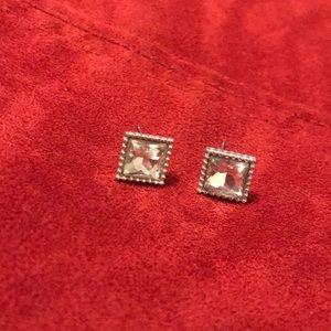 Square cubic zirconia studs